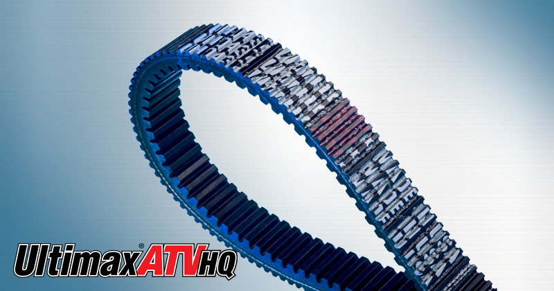 Image showing the Ultimax® ATV HQ Belt a CVT Belt and Powersports Belt for ATVs, UTVs, and Side-by-Side Vehicles