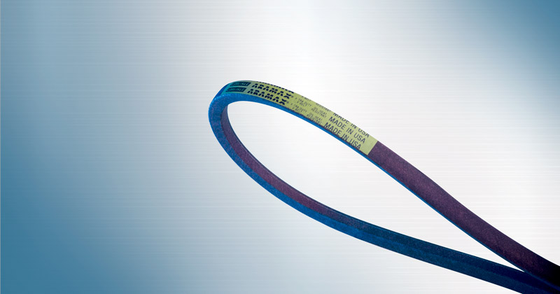 Image showing the ARAMAX Xtra Duty V-Belt by Carlisle Belts a V-Belt for outdoor power equipment including lawnmower belts, edges, and snow blower belts.