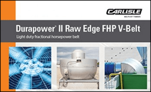 Download the Durapower II FHP V-Belt Brochure to explore the benefits of the light-duty fractional horsepower belt by Carlisle Belts