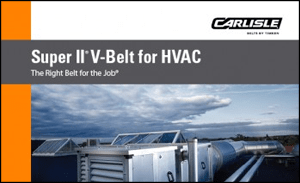 Download the Brochure for Super II V-Belt for HVAC Machinery
