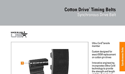 Browse Product Features and Dimensions Cotton Drive Brochure