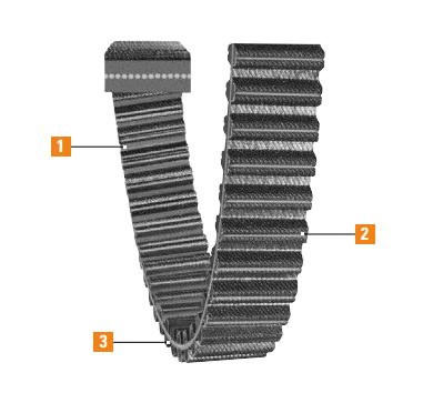Dual Synchronous Belts Features