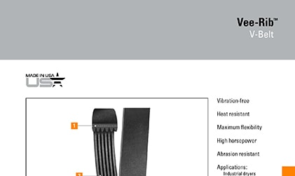 Vee-Rib Belts Product Brochure