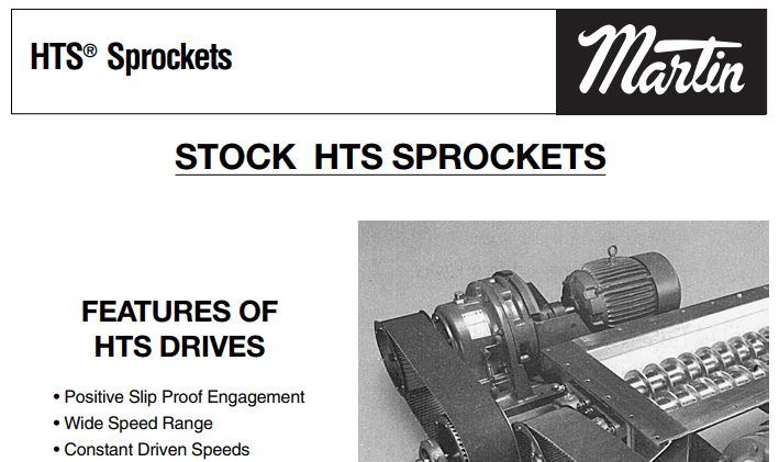 HTS Synchronous Sprockets Catalog