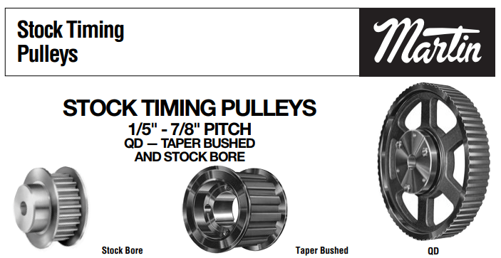 Timing Belt Pulleys Catalog