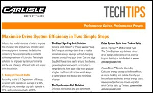 Download the Drive System Efficiency Guide to Maximise Your Drive Efficiency in 2 Simple Steps
