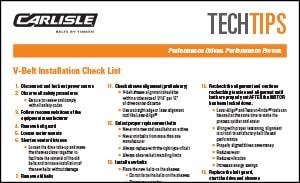 Download the V-Belt Installation Guide