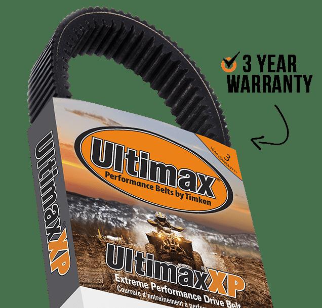 Ultimax® XP Belts include 3 Year Warranty