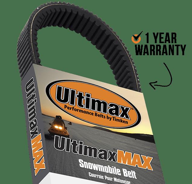 ULTIMAX® MAX Belts include 1 Year Warranty