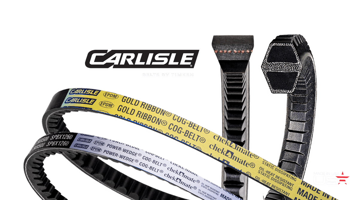 Cogged V-Belts by Carlisle® Belts for Compact Drives