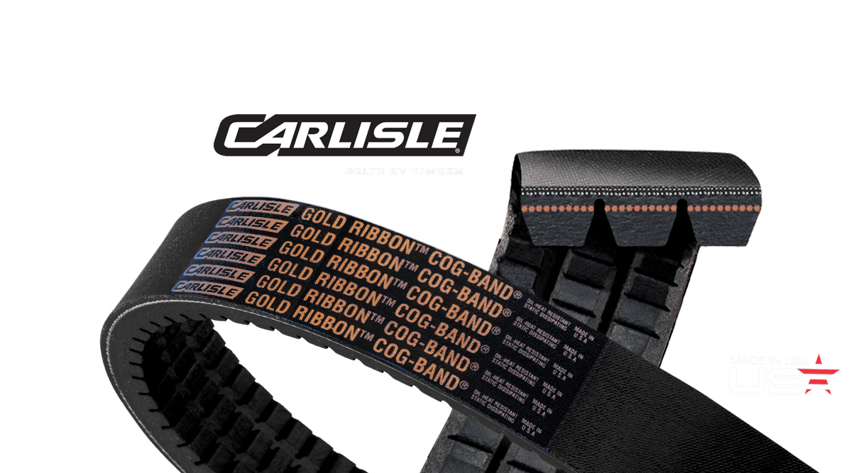 Gold-Ribbon® Cog-Band® Banded Belts by Carlisle® Belts