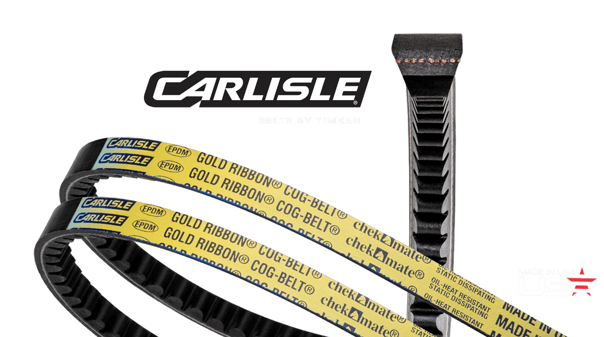 Gold-Ribbon Raw-Edge Belts in EPDM