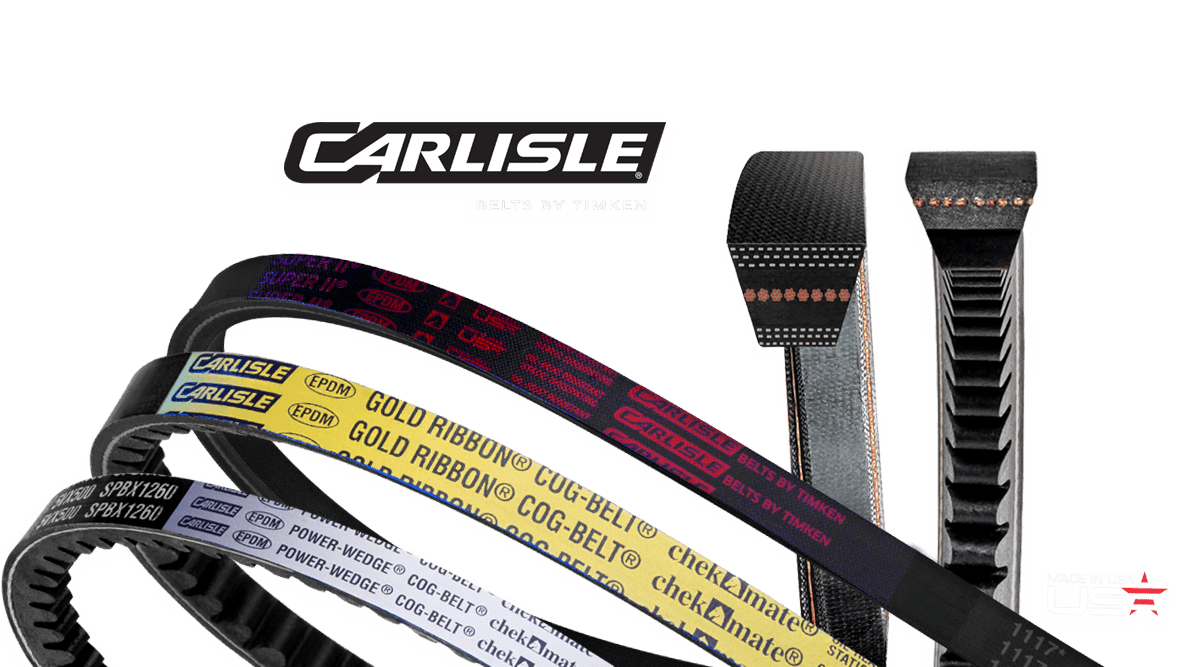 Carlisle® Belts World-Leader in Raw-Edge V-Belts